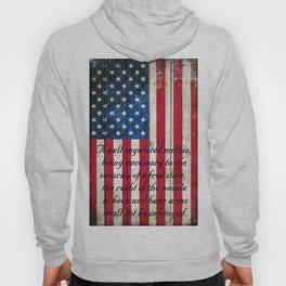 2nd Amendment on American Flag - Vertical Print Hoody