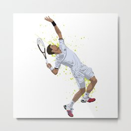 Novak Djokovic Metal Print