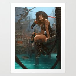 Pirate Haven Tortuga Art Print