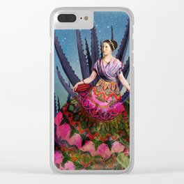 Blue Agave and Cacao Clear iPhone Case