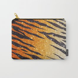 Tiger Shout Glitter Stripe Carry-All Pouch