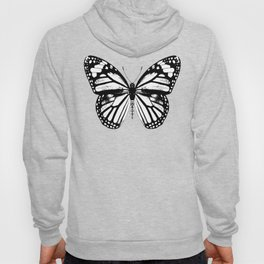 Monarch Butterfly | Black and White Hoody