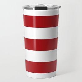 red stripes Travel Mug