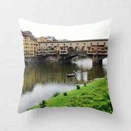 ponte vecchio, florence, italy Throw Pillow