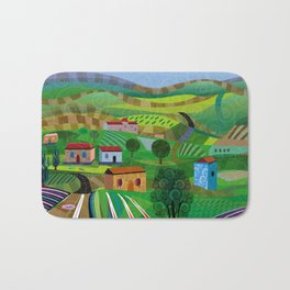 Santa Barbara Wine and Cheese Bath Mat