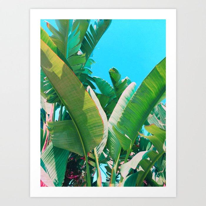 pop art banana leaf art print by hillarymurphy society6
