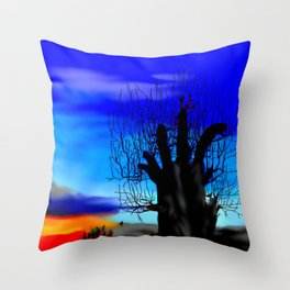 Lonely baobab ... Throw Pillow