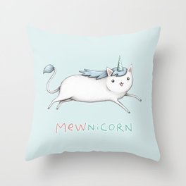 Mewnicorn Throw Pillow