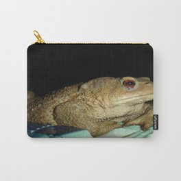 European Common Toad by Poolside At Night Carry-All Pouch