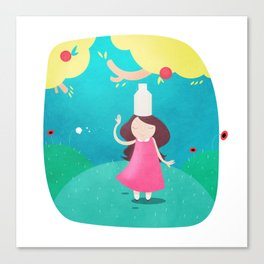 The Milkmaid and the Pot of Milk Canvas Print