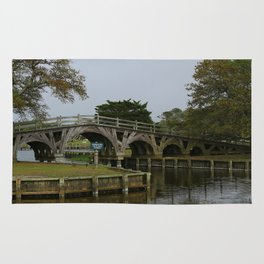 Historic Wooden Bridge At Currituck Light Station Rug