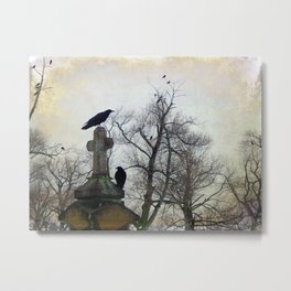 A Gathring Of Crows Metal Print