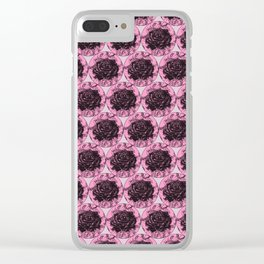 Roses Motif 2 illustration by Maxime Potvin Clear iPhone Case