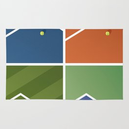 Tennis Courts Rug