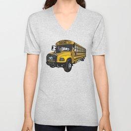 School bus Unisex V-Neck