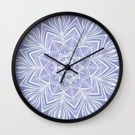Violet Bloom Crown Chakra Wall Clock
