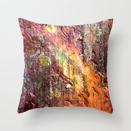Colorful Nature : Texture Warm Tones Throw Pillow