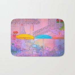 Starry-Night Cafe Bath Mat