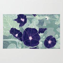 Dark florals Rug