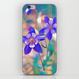 Colorado Columbine Flower iPhone Skin