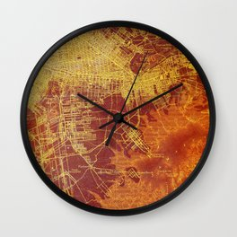 Old map of Brooklin year 1892 Wall Clock