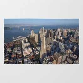 Aerial View of Downtown San Francisco Rug