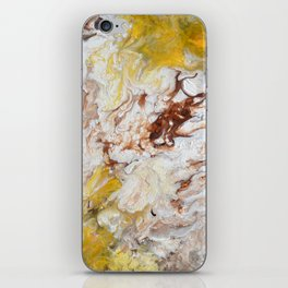 Brown, White and Yellow Abstract Art iPhone Skin