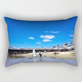 San Diego Beach Boardwalk/Crystal Pier Rectangular Pillow
