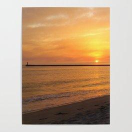 warm sunset Poster