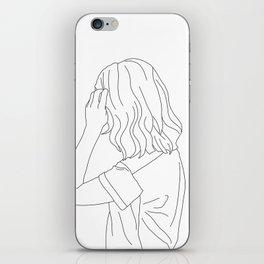 Fashion illustration line drawing - Cain iPhone Skin