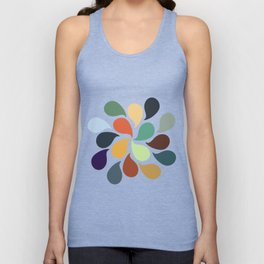 Colorful Water Drops Unisex Tank Top