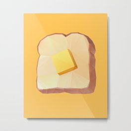 Toast with Butter polygon art Metal Print