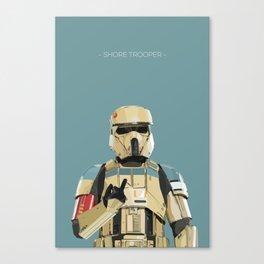 Shore trooper Canvas Print