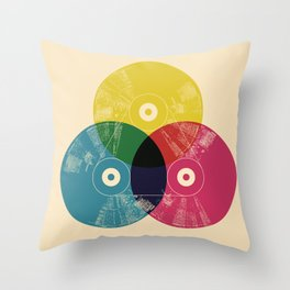 Music is the colors of life Throw Pillow