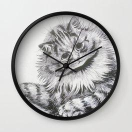 Louis Wain - Cat Portrait Wall Clock