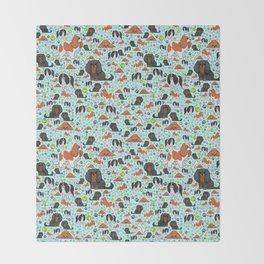 Cute Spaniels Throw Blanket