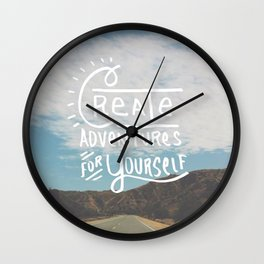 Create Adventure for Yourself Wall Clock