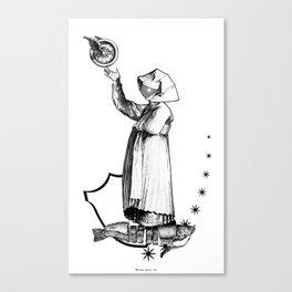 A propos du chant prophetique de la Sibylle. Canvas Print
