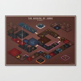 The Binding of Isaac - Floor Plan (No Names Variant) Canvas Print