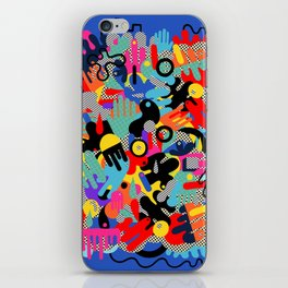 Color blobs 002 iPhone Skin