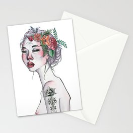 Wicked Woman Ink and Watercolour Illustration Stationery Cards