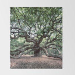 Oak of the Angels Throw Blanket