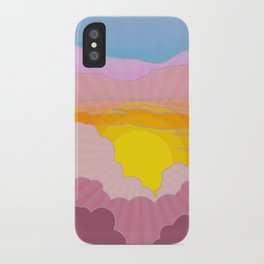 Sixties Inspired Psychedelic Sunrise Surprise iPhone Case