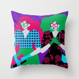 Blaire and Claire Throw Pillow