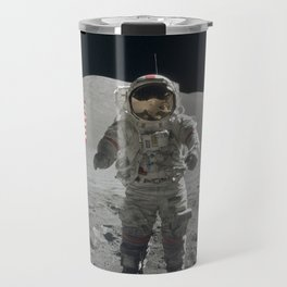 Astronaut on the Moon  - Vintage Space Photo Travel Mug