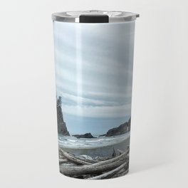 Rainy Day at Second Beach Travel Mug