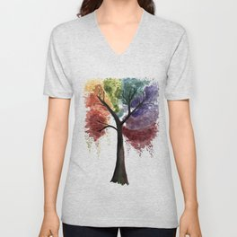 Happy Tree Unisex V-Neck