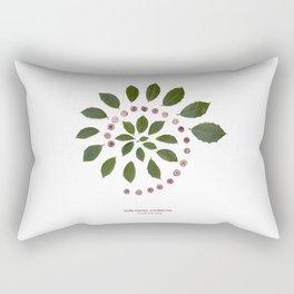 nature mandala... holly leaves, cranberries Rectangular Pillow