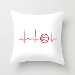 BASKETBALL HEARTBEAT Throw Pillow