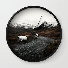 The Two Mountaineers Wall Clock